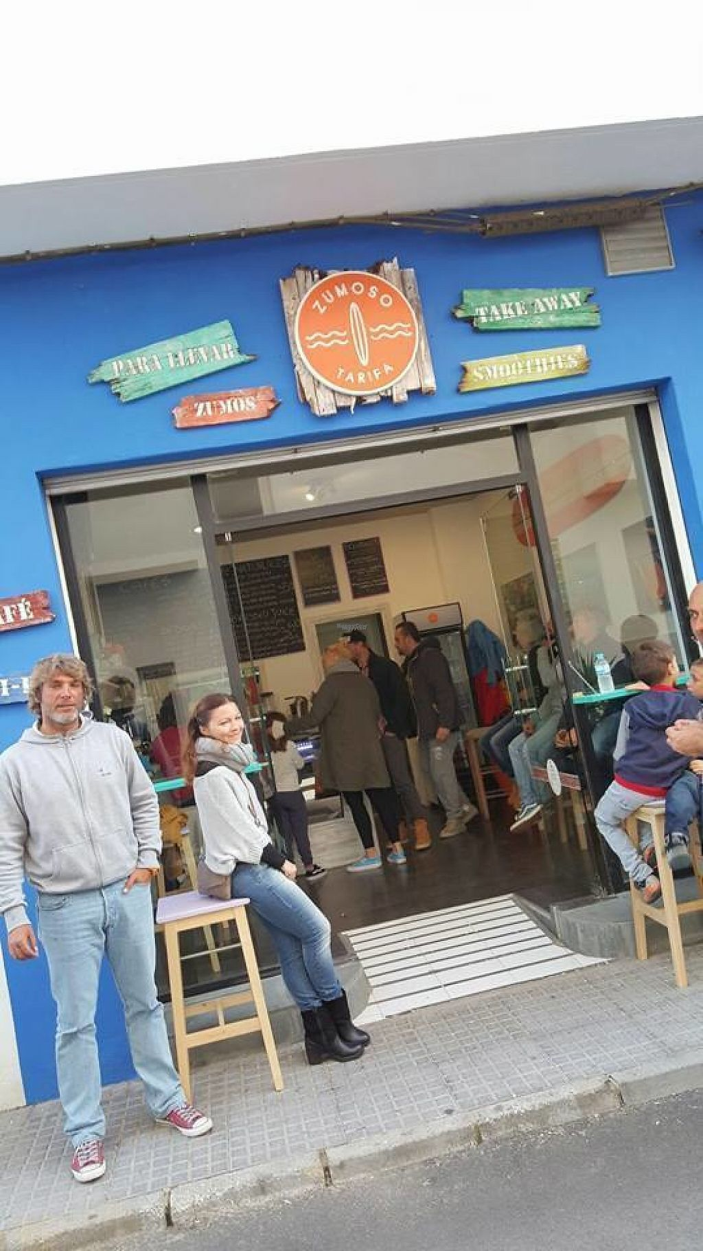 """Photo of Zumoso Bar Tarifa  by <a href=""""/members/profile/zumosotarifa"""">zumosotarifa</a> <br/>Fresh juices, creamy coffee, homemade cakes, sandwiches and salads for take away.  Calle Canovas del Castillo 4 11380 Tarifa 956 62 75 93  <br/> November 14, 2016  - <a href='/contact/abuse/image/82633/190074'>Report</a>"""