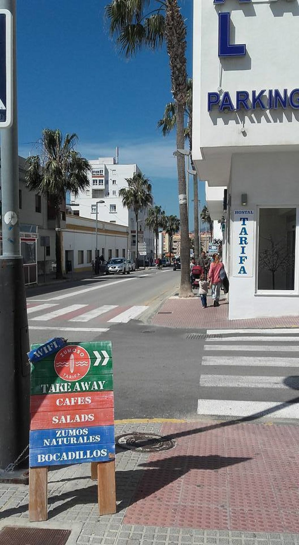 """Photo of Zumoso Bar Tarifa  by <a href=""""/members/profile/zumosotarifa"""">zumosotarifa</a> <br/>Fresh juices, creamy coffee, homemade cakes, sandwiches and salads for take away.  Calle Canovas del Castillo 4 11380 Tarifa 956 62 75 93  <br/> November 14, 2016  - <a href='/contact/abuse/image/82633/190076'>Report</a>"""
