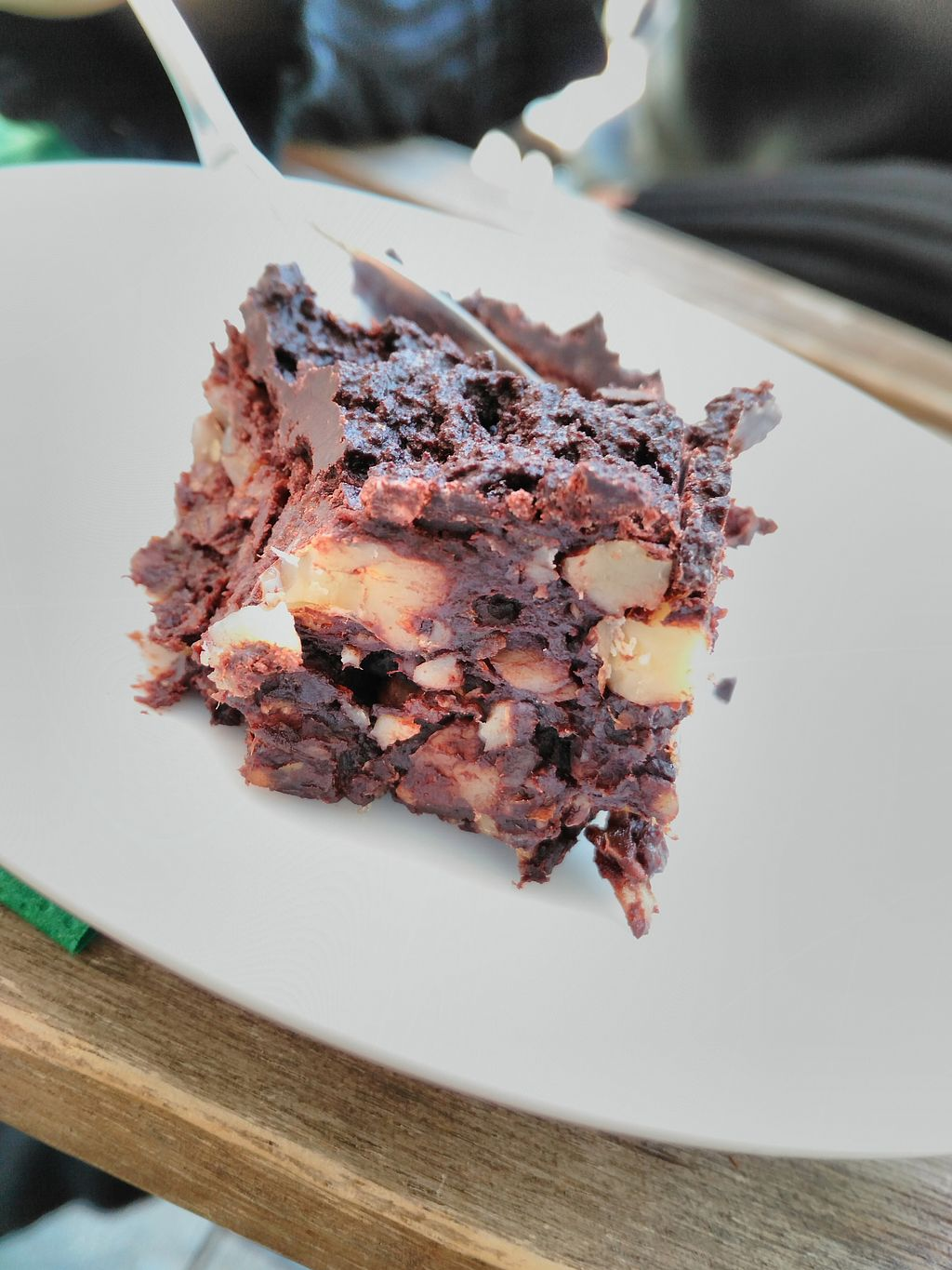 """Photo of Cafe Vert  by <a href=""""/members/profile/AudreyA"""">AudreyA</a> <br/>This raw chocolate brownie was to die for <br/> September 7, 2017  - <a href='/contact/abuse/image/82634/301719'>Report</a>"""