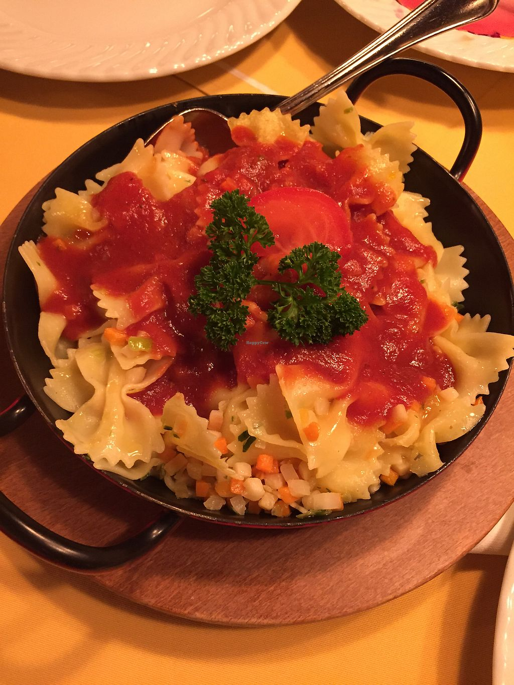 "Photo of Brauerei-Gasthof Hotel Post   by <a href=""/members/profile/RomanovaAlexandra"">RomanovaAlexandra</a> <br/>Noodles with tomato sauce and veggies <br/> January 13, 2018  - <a href='/contact/abuse/image/82640/346220'>Report</a>"