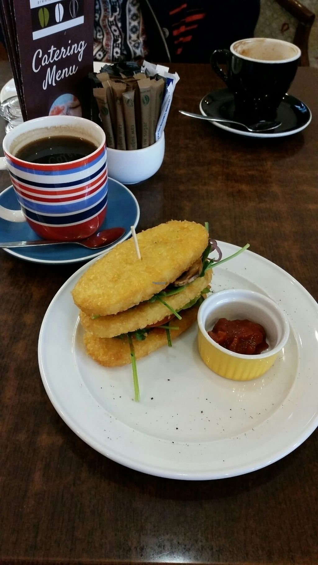 "Photo of Three Bean Cafe  by <a href=""/members/profile/AndyTheVWDude"">AndyTheVWDude</a> <br/>Hash Stack & Relish with Good Coffee <br/> November 12, 2016  - <a href='/contact/abuse/image/82659/188917'>Report</a>"