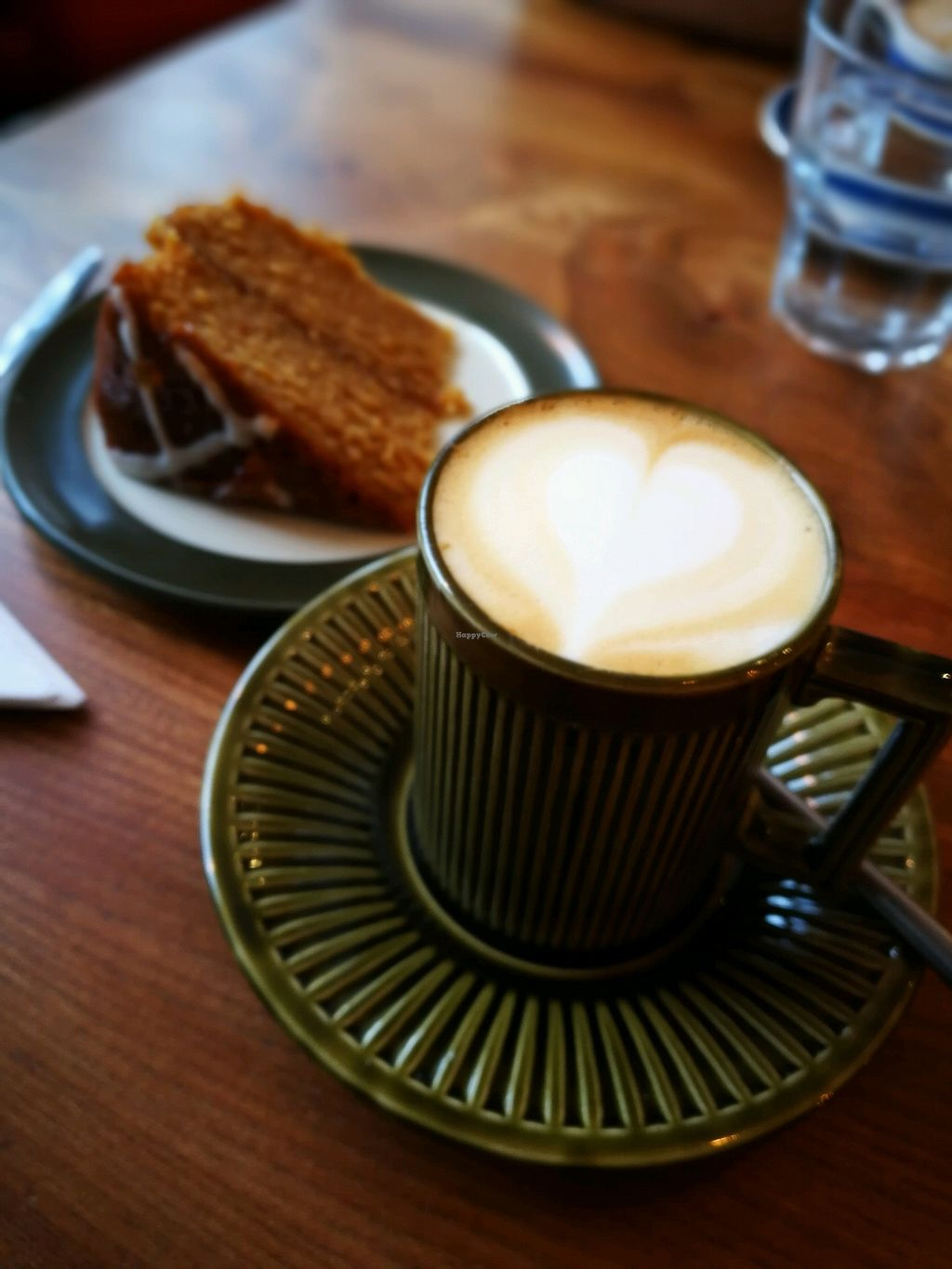 "Photo of The Moon and Sixpence  by <a href=""/members/profile/BethanyGrounds"">BethanyGrounds</a> <br/>gorgeous vegan marmalade cake and oat milk flat white <br/> February 3, 2018  - <a href='/contact/abuse/image/82669/354408'>Report</a>"