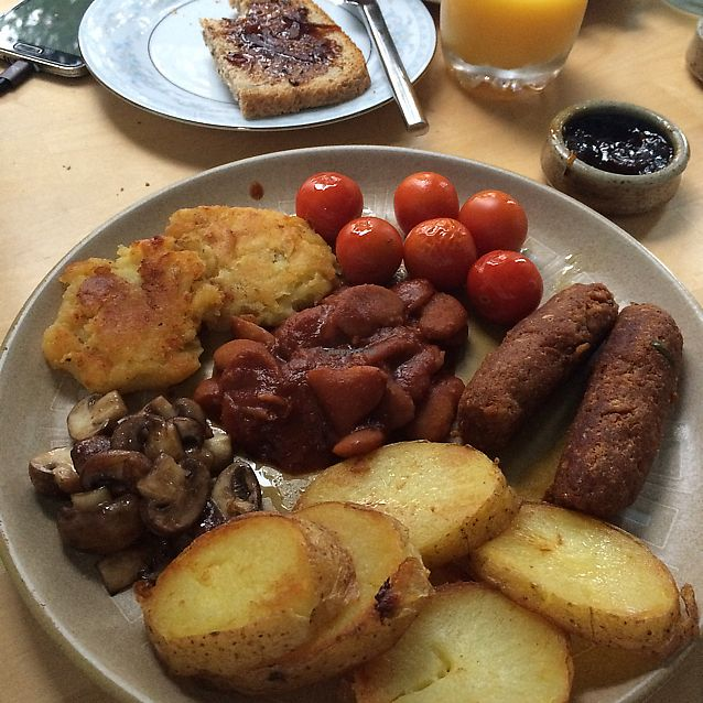 """Photo of The Old Croft House Vegetarian B&B  by <a href=""""/members/profile/Vgneats"""">Vgneats</a> <br/>Vegan breakfast <br/> June 18, 2017  - <a href='/contact/abuse/image/82685/270407'>Report</a>"""