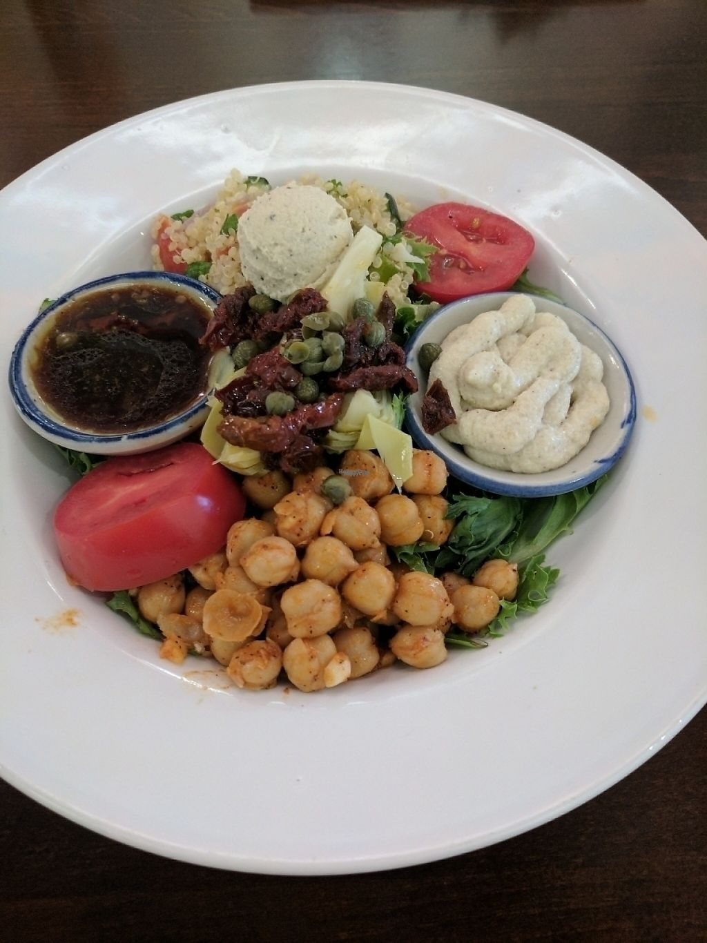"""Photo of Plant Food Supper Club  by <a href=""""/members/profile/IdyVegan"""">IdyVegan</a> <br/>Mediterranean bowl <br/> March 20, 2017  - <a href='/contact/abuse/image/82687/238606'>Report</a>"""