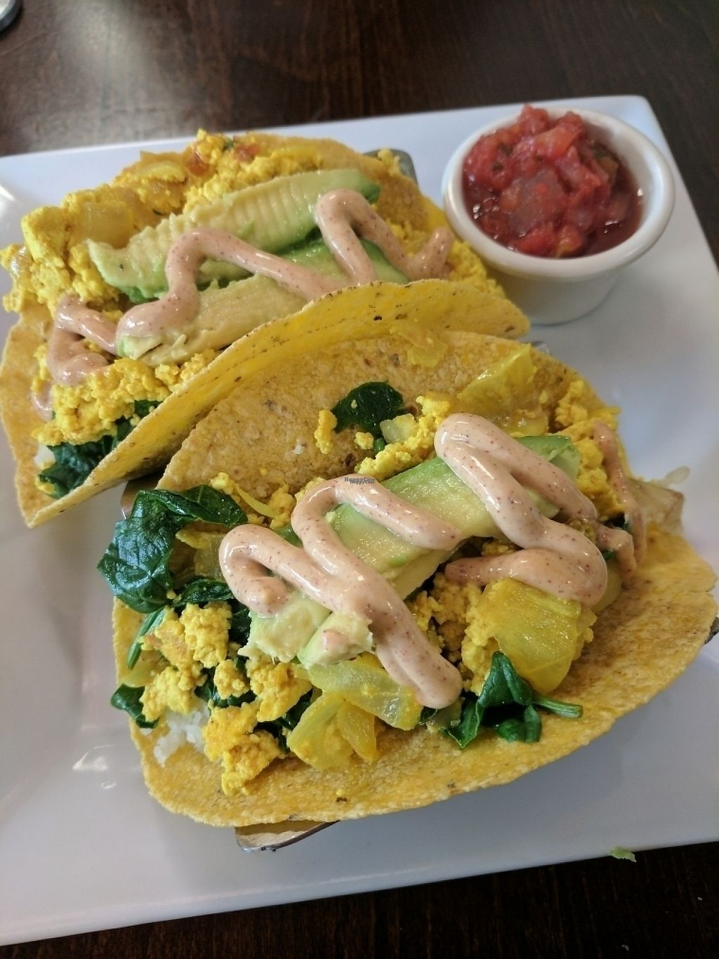 """Photo of Plant Food Supper Club  by <a href=""""/members/profile/IdyVegan"""">IdyVegan</a> <br/>Tofu scramble tacos <br/> March 20, 2017  - <a href='/contact/abuse/image/82687/238607'>Report</a>"""