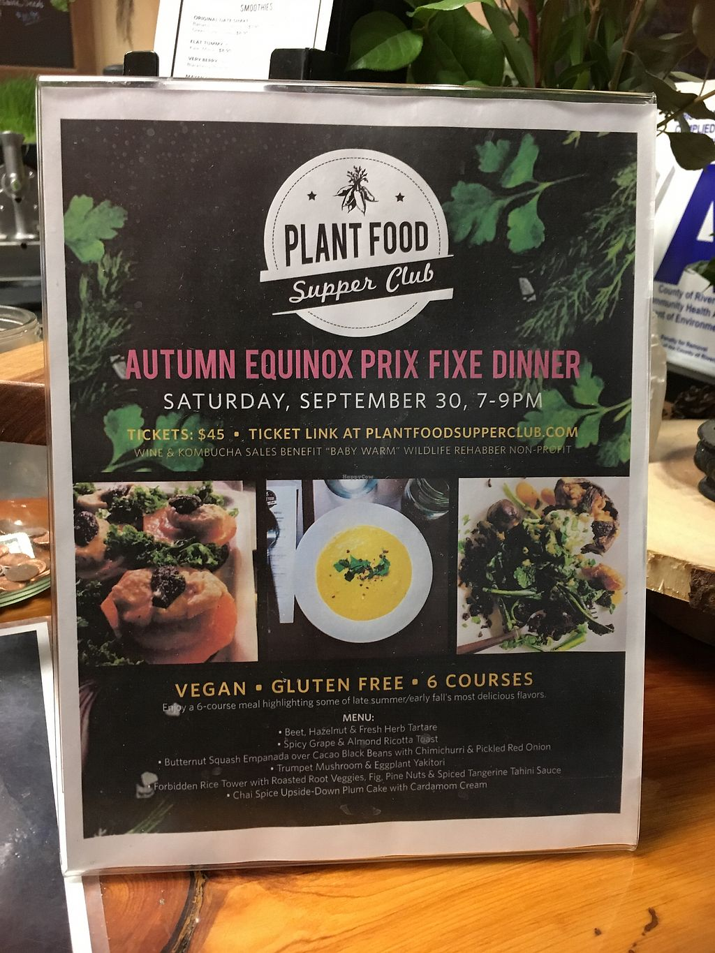 """Photo of Plant Food Supper Club  by <a href=""""/members/profile/RedheadedR"""">RedheadedR</a> <br/>Prize fixe dinner 9-30-17 <br/> September 17, 2017  - <a href='/contact/abuse/image/82687/305295'>Report</a>"""