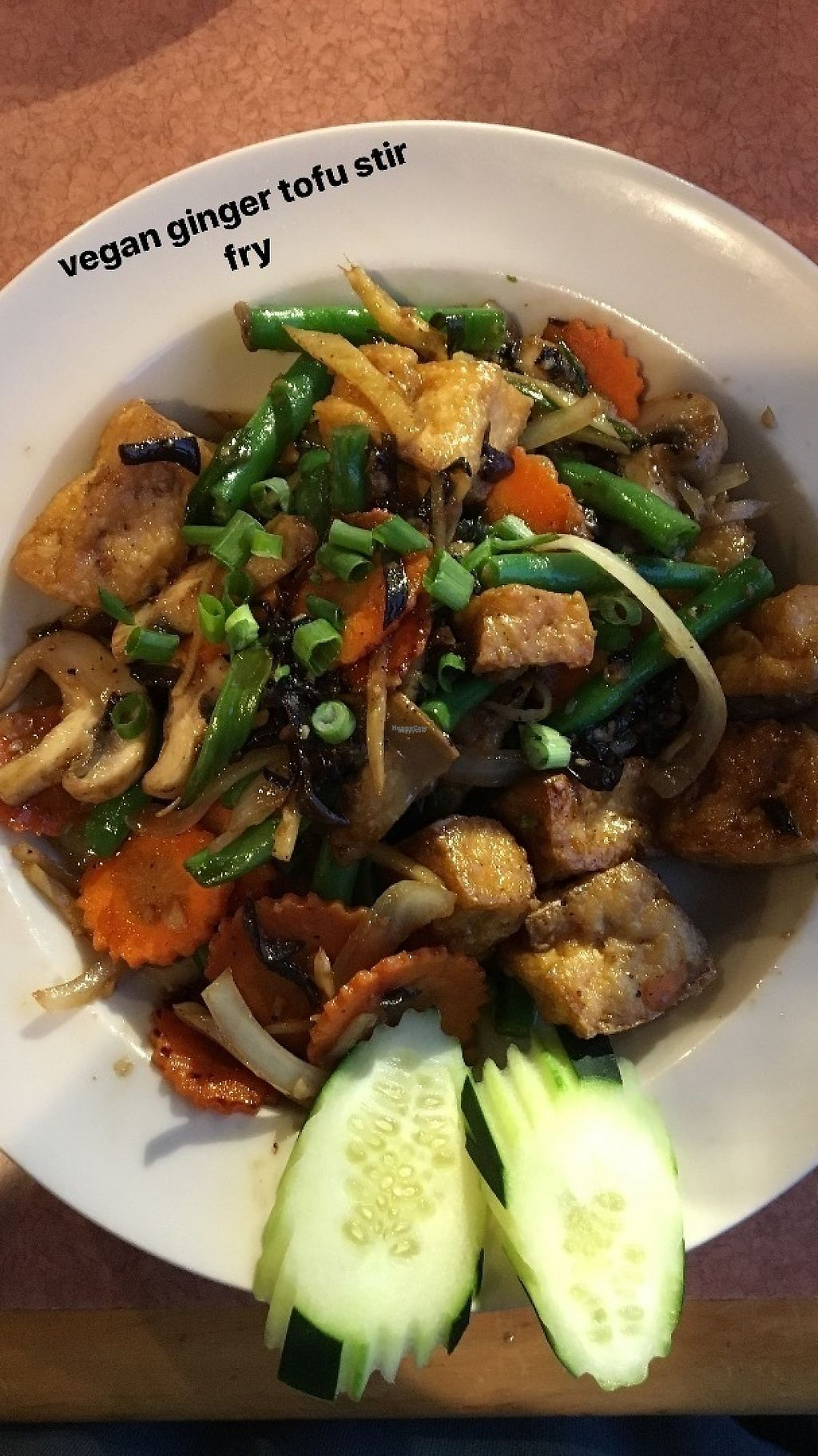 "Photo of Tiny Thai Restaurant  by <a href=""/members/profile/joannaidk"">joannaidk</a> <br/>ginger tofu stir fry <br/> April 16, 2017  - <a href='/contact/abuse/image/82698/249031'>Report</a>"