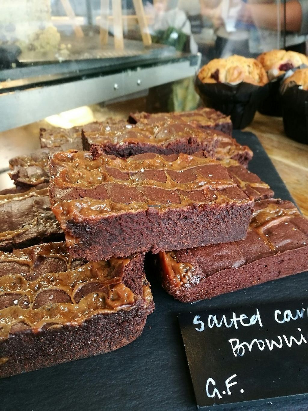 "Photo of The Missing Bean  by <a href=""/members/profile/themissingbean"">themissingbean</a> <br/>The Missing Bean's famous salted-caramel brownie, hand made by our very own baker-extraordinaire <br/> February 17, 2017  - <a href='/contact/abuse/image/82702/227468'>Report</a>"