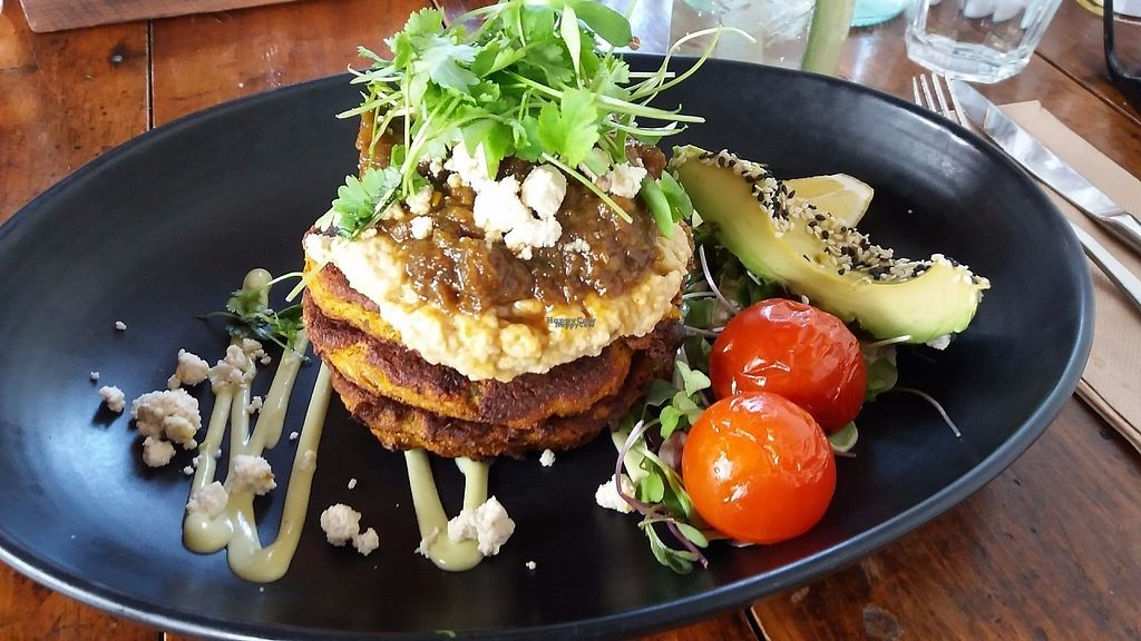 """Photo of Punnet Cafe  by <a href=""""/members/profile/Diz%20Parker"""">Diz Parker</a> <br/>Yummy cauliflower and lentil fritters - so filling and delicious <br/> January 11, 2017  - <a href='/contact/abuse/image/82709/210620'>Report</a>"""