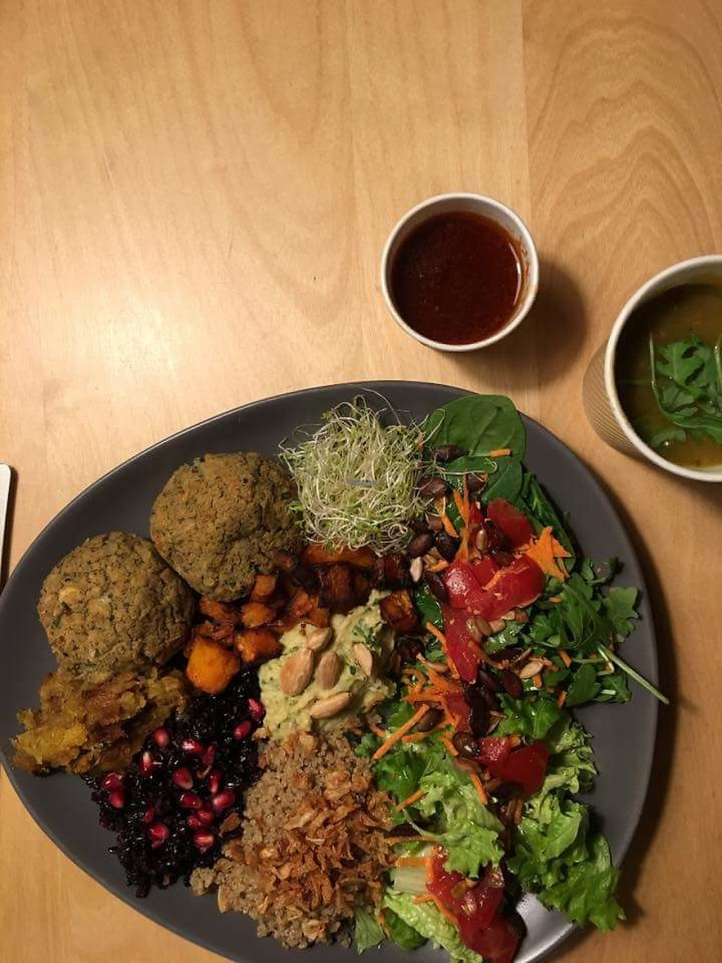 """Photo of Le Jardin de Teli  by <a href=""""/members/profile/lejardindeteli"""">lejardindeteli</a> <br/>Vegan plate of the day <br/> November 16, 2016  - <a href='/contact/abuse/image/82715/190840'>Report</a>"""