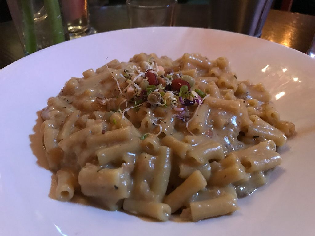 """Photo of Vegan Food Pimp - Pop-up  by <a href=""""/members/profile/Kiwi%20Wannabe"""">Kiwi Wannabe</a> <br/>Mac 'n cheese - creamy and delicious!! <br/> February 14, 2018  - <a href='/contact/abuse/image/82726/359431'>Report</a>"""