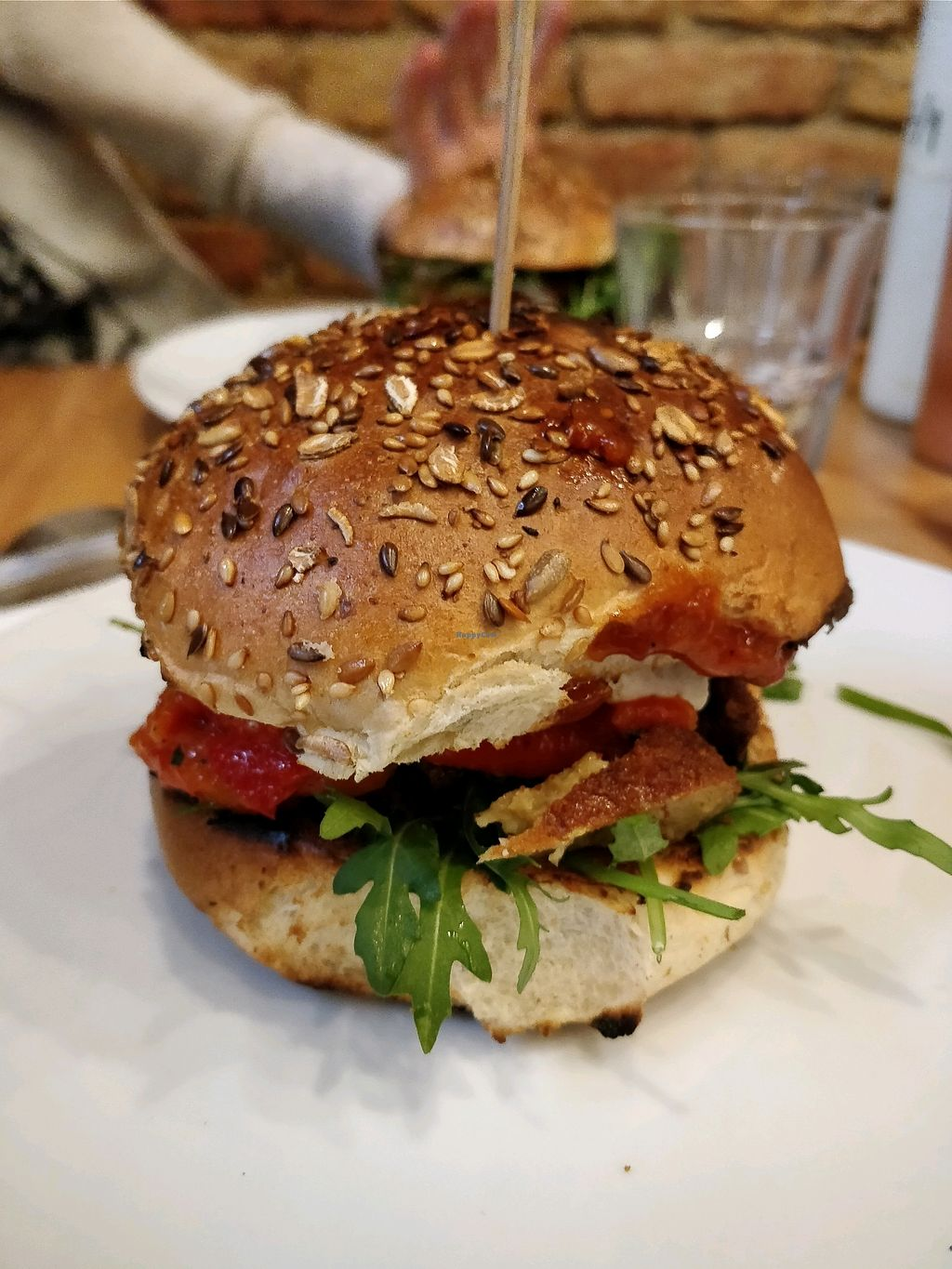 """Photo of Lia's Kitchen  by <a href=""""/members/profile/Chrisarnold"""">Chrisarnold</a> <br/>Delicious vegan chicken, fetta burger! <br/> January 29, 2018  - <a href='/contact/abuse/image/82729/352414'>Report</a>"""