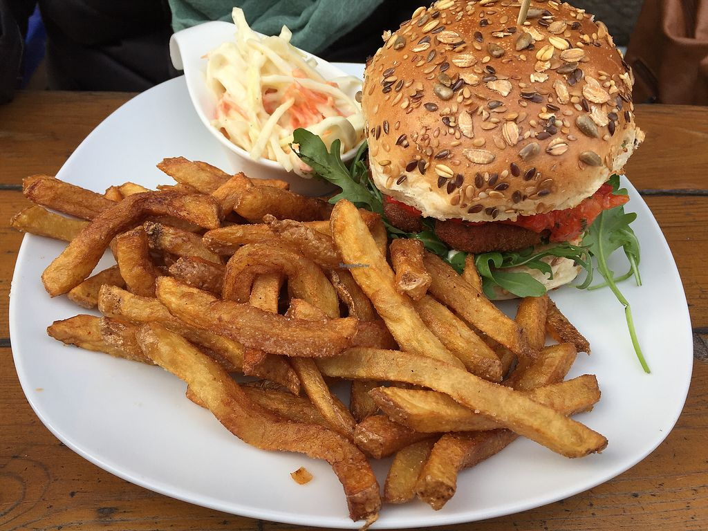 """Photo of Lia's Kitchen  by <a href=""""/members/profile/Christi"""">Christi</a> <br/>Chicken burger and fries <br/> April 6, 2018  - <a href='/contact/abuse/image/82729/381514'>Report</a>"""