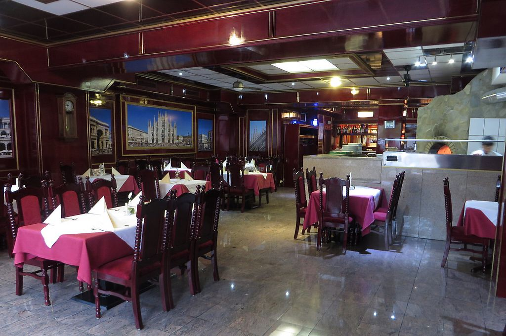 """Photo of Al Bacio Ristorante Pizzeria  by <a href=""""/members/profile/VegiAnna"""">VegiAnna</a> <br/>But the interior design looks impressive and the wood-oven gives it a cosy feel <br/> November 13, 2016  - <a href='/contact/abuse/image/82733/189812'>Report</a>"""