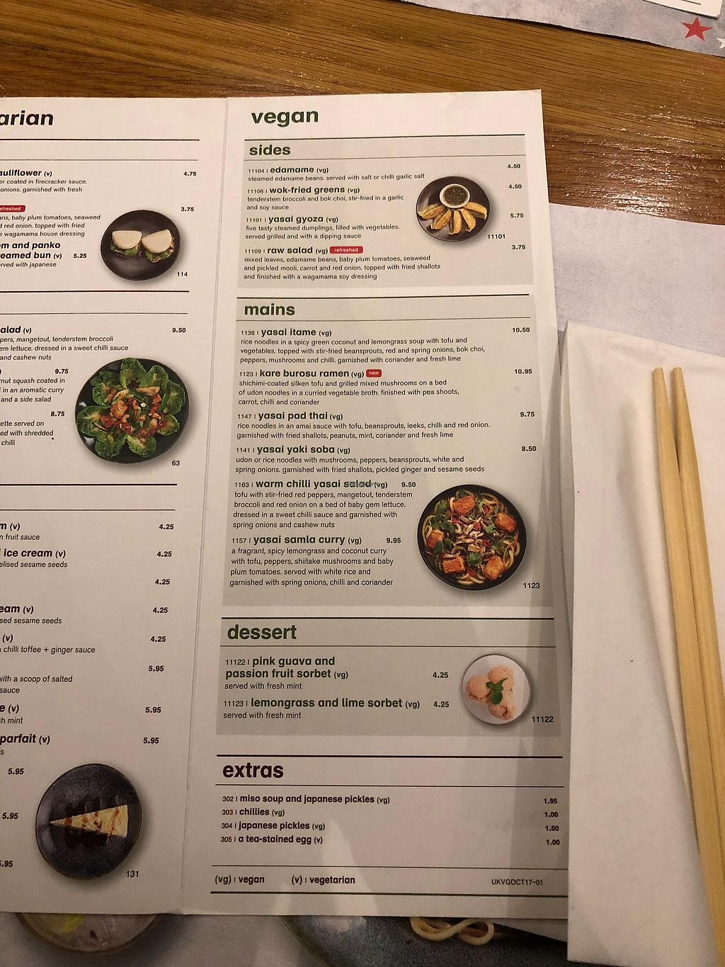 """Photo of Wagamama  by <a href=""""/members/profile/SkittenSmuggler"""">SkittenSmuggler</a> <br/>Vegan menu!  <br/> December 16, 2017  - <a href='/contact/abuse/image/82758/336238'>Report</a>"""