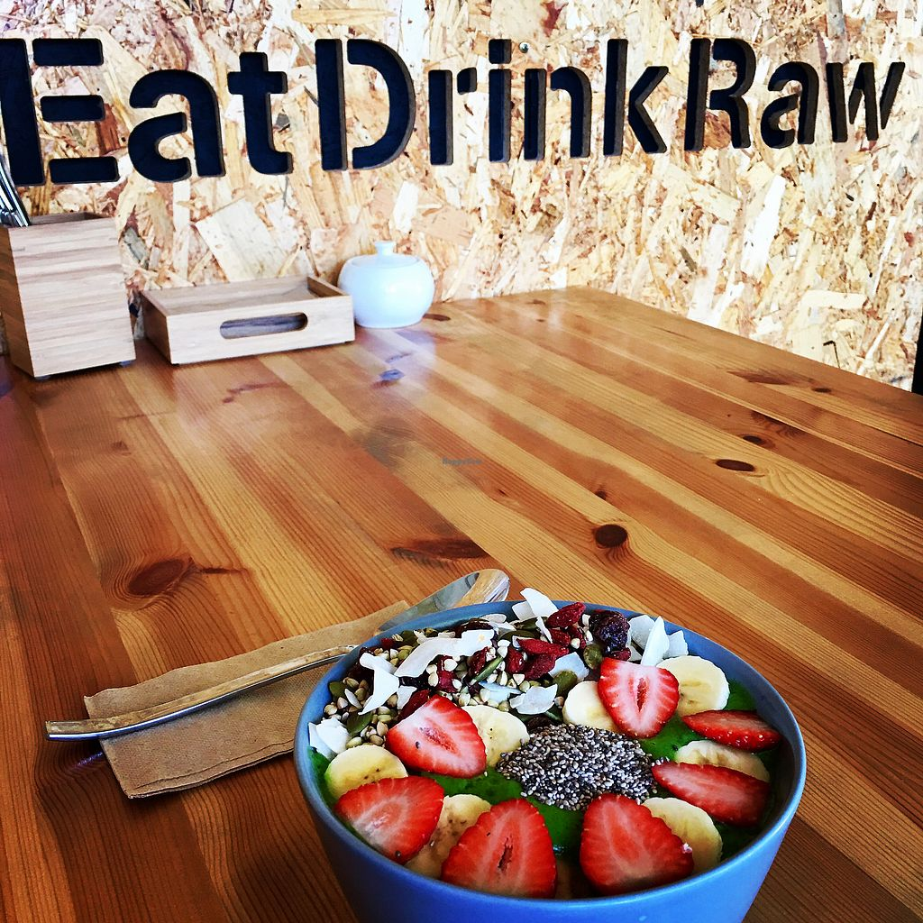 """Photo of Eat Drink Raw  by <a href=""""/members/profile/Carmentx"""">Carmentx</a> <br/>Breakfast smoothie bowl  <br/> February 20, 2018  - <a href='/contact/abuse/image/82766/361513'>Report</a>"""