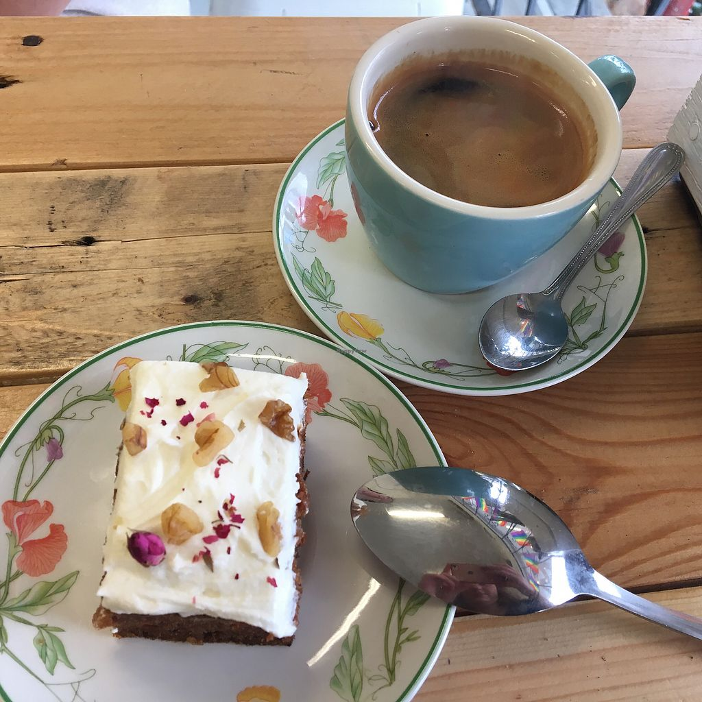 """Photo of Maker  by <a href=""""/members/profile/Lozcriston"""">Lozcriston</a> <br/>Carrot cake and long black <br/> March 16, 2018  - <a href='/contact/abuse/image/82771/371389'>Report</a>"""