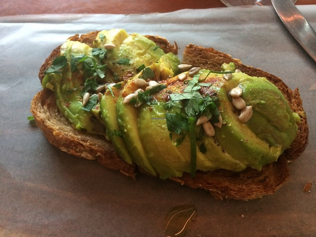 "Photo of Green Pastures  by <a href=""/members/profile/Bethevegan"">Bethevegan</a> <br/>Avocado toast <br/> March 20, 2018  - <a href='/contact/abuse/image/82779/373315'>Report</a>"