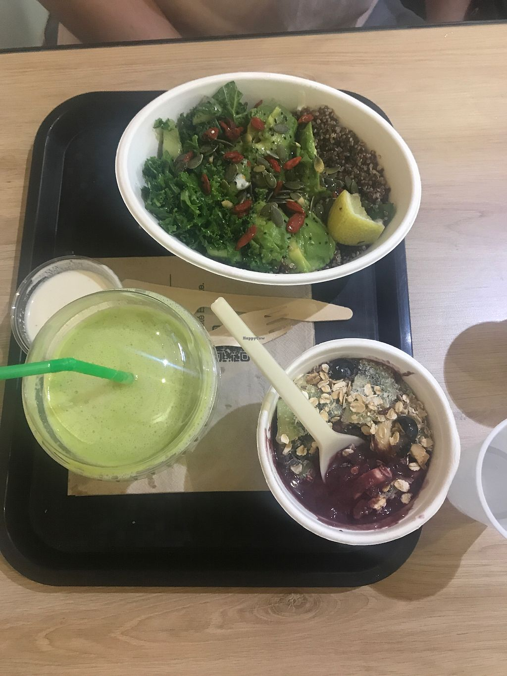 """Photo of Ensuite  by <a href=""""/members/profile/lismageese"""">lismageese</a> <br/>green juice, cashew sauce, kiwi kale salad and acai bowl  <br/> August 21, 2017  - <a href='/contact/abuse/image/82825/295297'>Report</a>"""