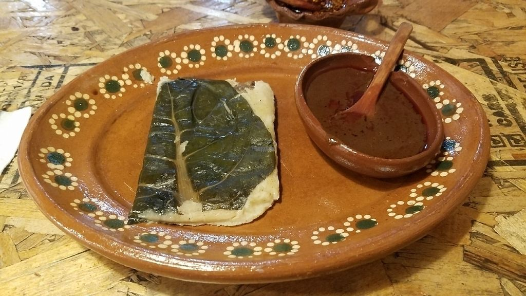 """Photo of Casa Cacao  by <a href=""""/members/profile/kenvegan"""">kenvegan</a> <br/>vegan tamale <br/> April 10, 2017  - <a href='/contact/abuse/image/82832/246839'>Report</a>"""