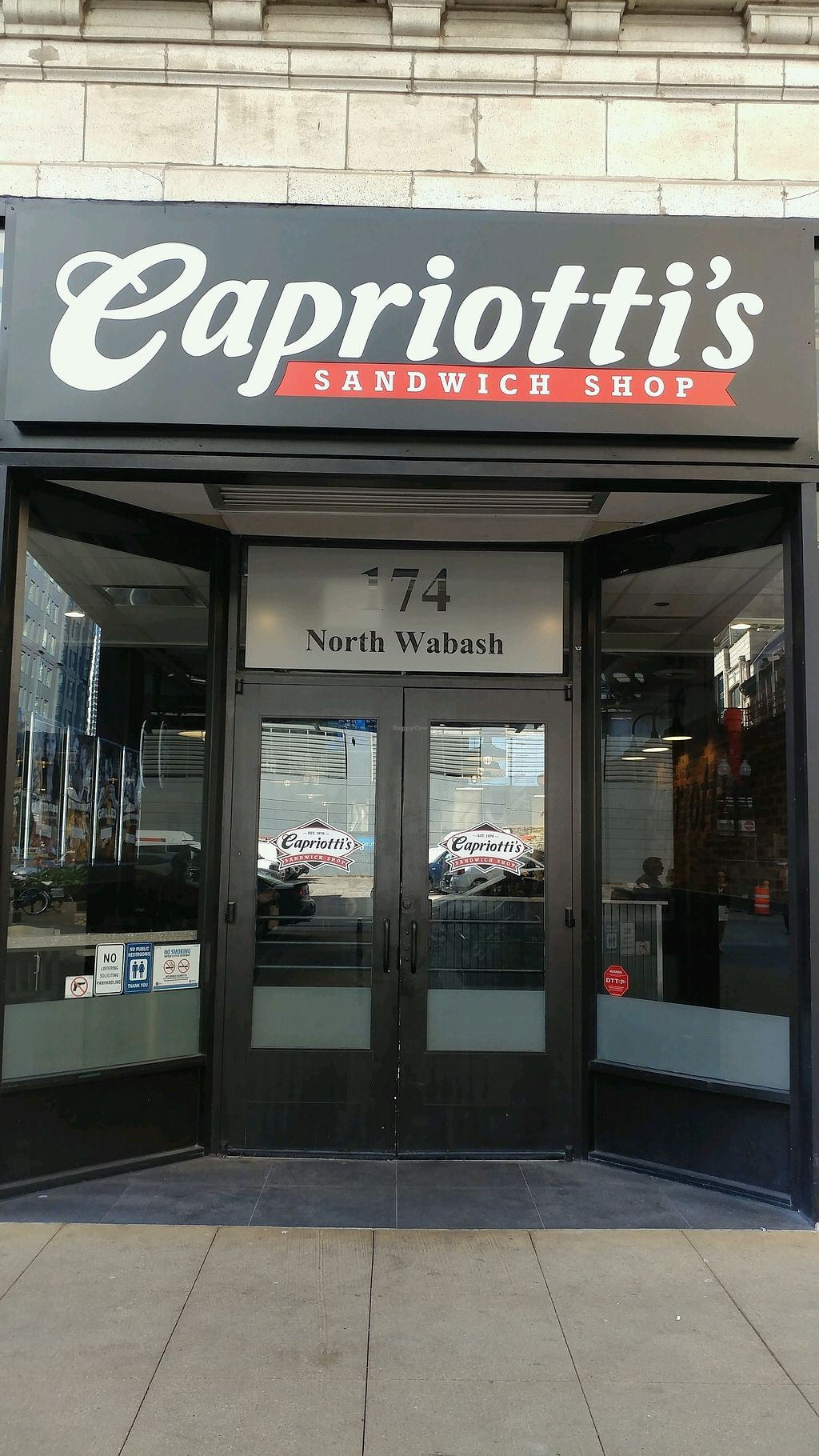 """Photo of Capriotti's Sandwich Shop  by <a href=""""/members/profile/mster9ball1"""">mster9ball1</a> <br/>on 174 North Wabash  <br/> September 18, 2017  - <a href='/contact/abuse/image/82834/305838'>Report</a>"""