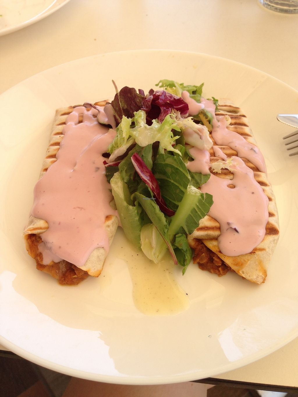 """Photo of Green Tara  by <a href=""""/members/profile/NinaH%C3%B6fmann"""">NinaHöfmann</a> <br/>Tacos with Grape Dressing (made using local grapes!) <br/> July 30, 2017  - <a href='/contact/abuse/image/82837/286739'>Report</a>"""
