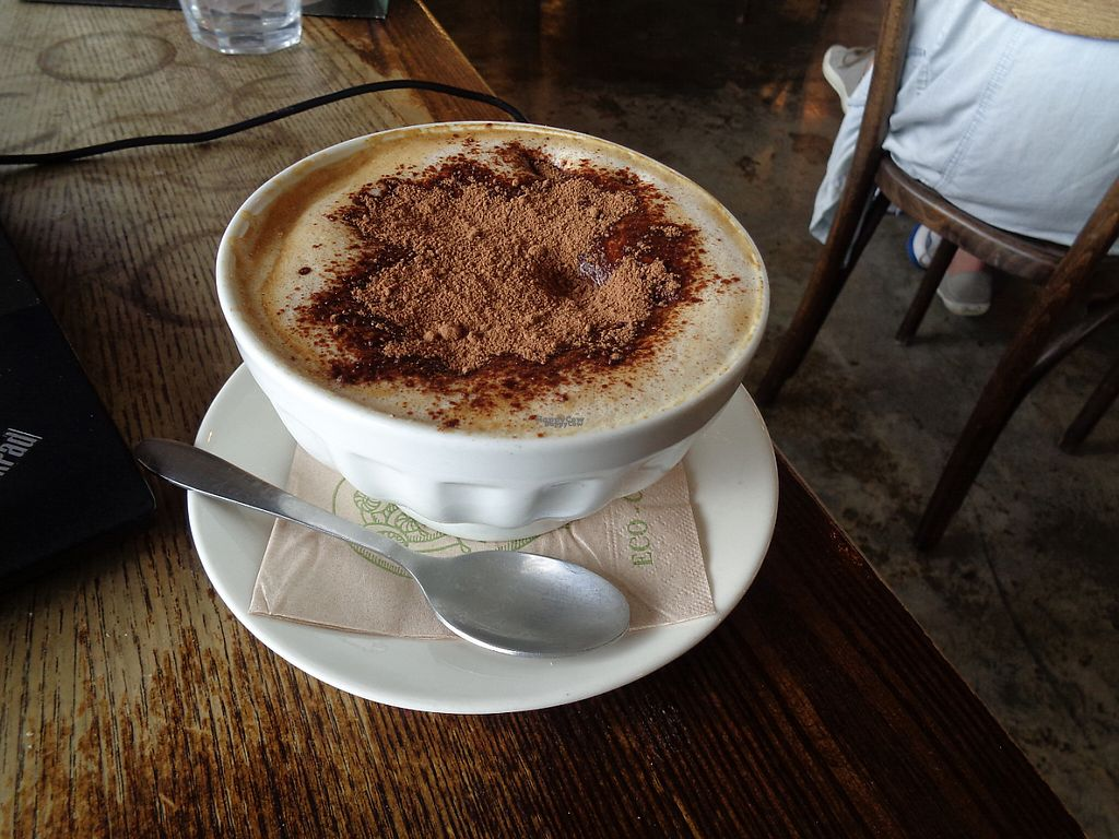 "Photo of Grindz Cafe  by <a href=""/members/profile/citizenInsane"">citizenInsane</a> <br/>mega soymilk cappuccino bowl <br/> November 19, 2016  - <a href='/contact/abuse/image/82844/191953'>Report</a>"