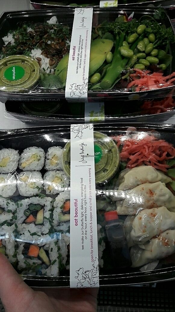 "Photo of LHR - Itsu - Airport T5  by <a href=""/members/profile/piffelina"">piffelina</a> <br/>Two vegan options <br/> July 2, 2017  - <a href='/contact/abuse/image/82889/276151'>Report</a>"