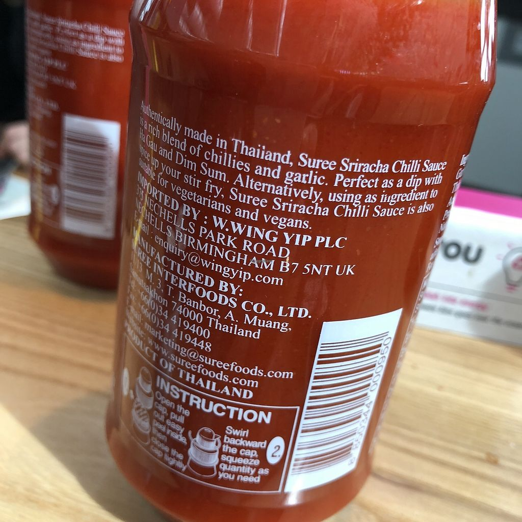 "Photo of LHR - Itsu - Airport T5  by <a href=""/members/profile/TARAMCDONALD"">TARAMCDONALD</a> <br/>Chilli sauce - help yourself and its vegan too! <br/> April 15, 2018  - <a href='/contact/abuse/image/82889/386461'>Report</a>"