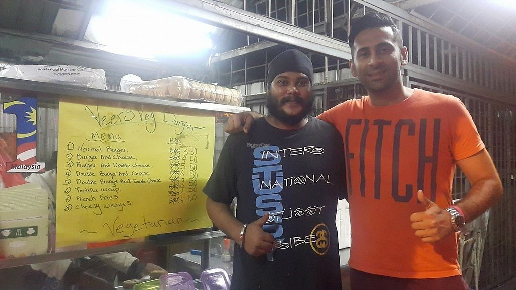 """Photo of Veer's Veg Street Burger  by <a href=""""/members/profile/AndyT"""">AndyT</a> <br/>Veeru Bro and happy Customer <br/> November 28, 2016  - <a href='/contact/abuse/image/82893/195404'>Report</a>"""