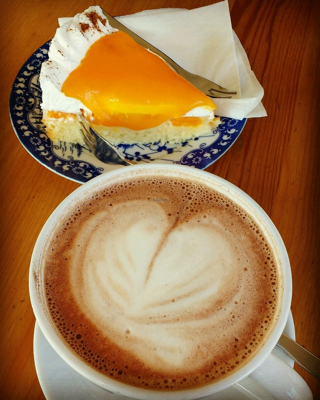 "Photo of Poffers Cafe  by <a href=""/members/profile/lilScorpio"">lilScorpio</a> <br/>hot soy chocolate and tangerine cake <br/> February 19, 2018  - <a href='/contact/abuse/image/82898/361365'>Report</a>"