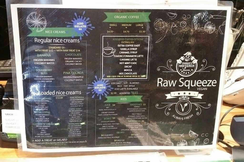"""Photo of Raw Squeeze at Lorna Jane  by <a href=""""/members/profile/Mike%20Munsie"""">Mike Munsie</a> <br/>menu 1 <br/> April 21, 2017  - <a href='/contact/abuse/image/82911/250427'>Report</a>"""