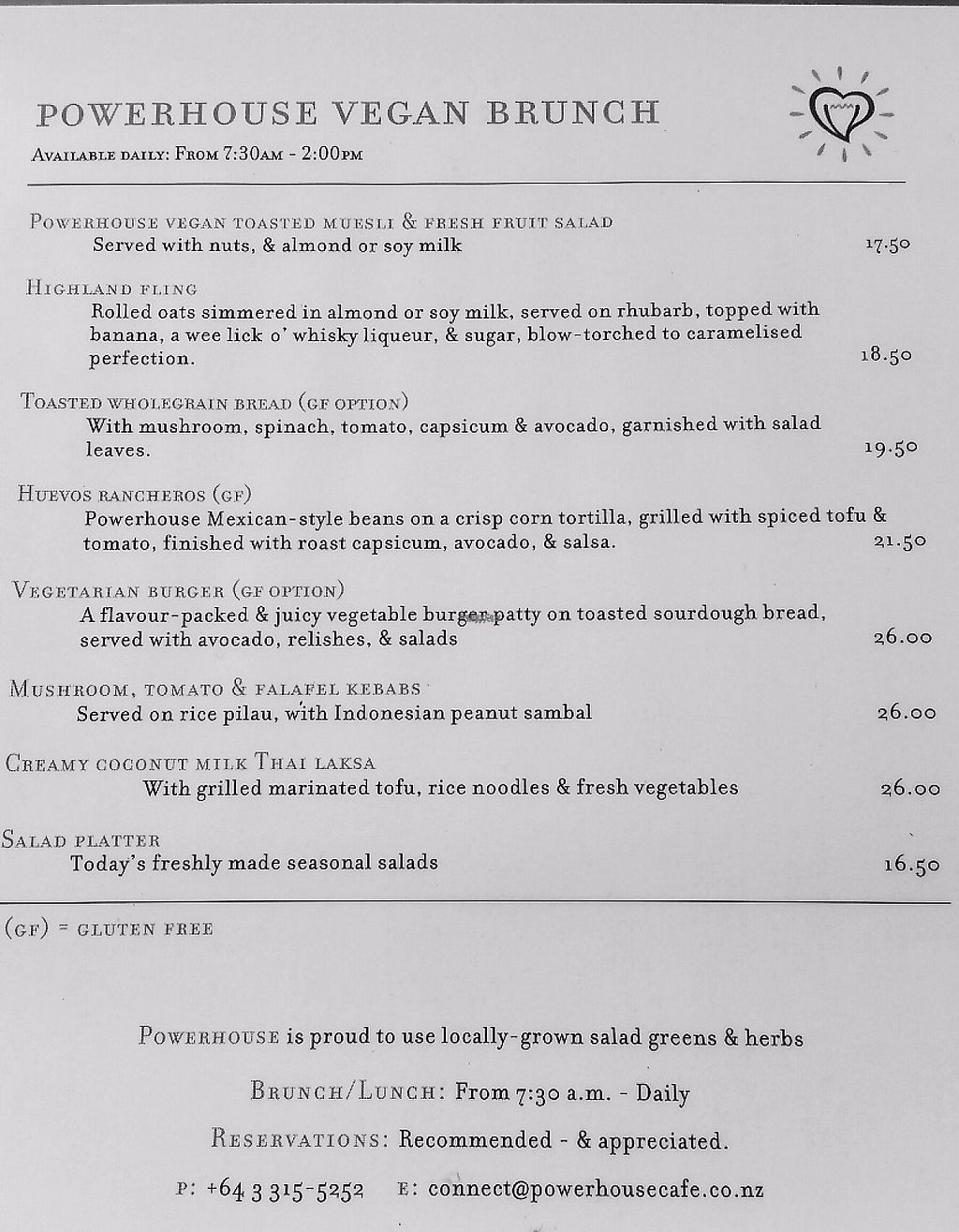 """Photo of Powerhouse Cafe  by <a href=""""/members/profile/AndyTheVWDude"""">AndyTheVWDude</a> <br/>Vegan Brunch Menu <br/> November 19, 2016  - <a href='/contact/abuse/image/82934/191967'>Report</a>"""