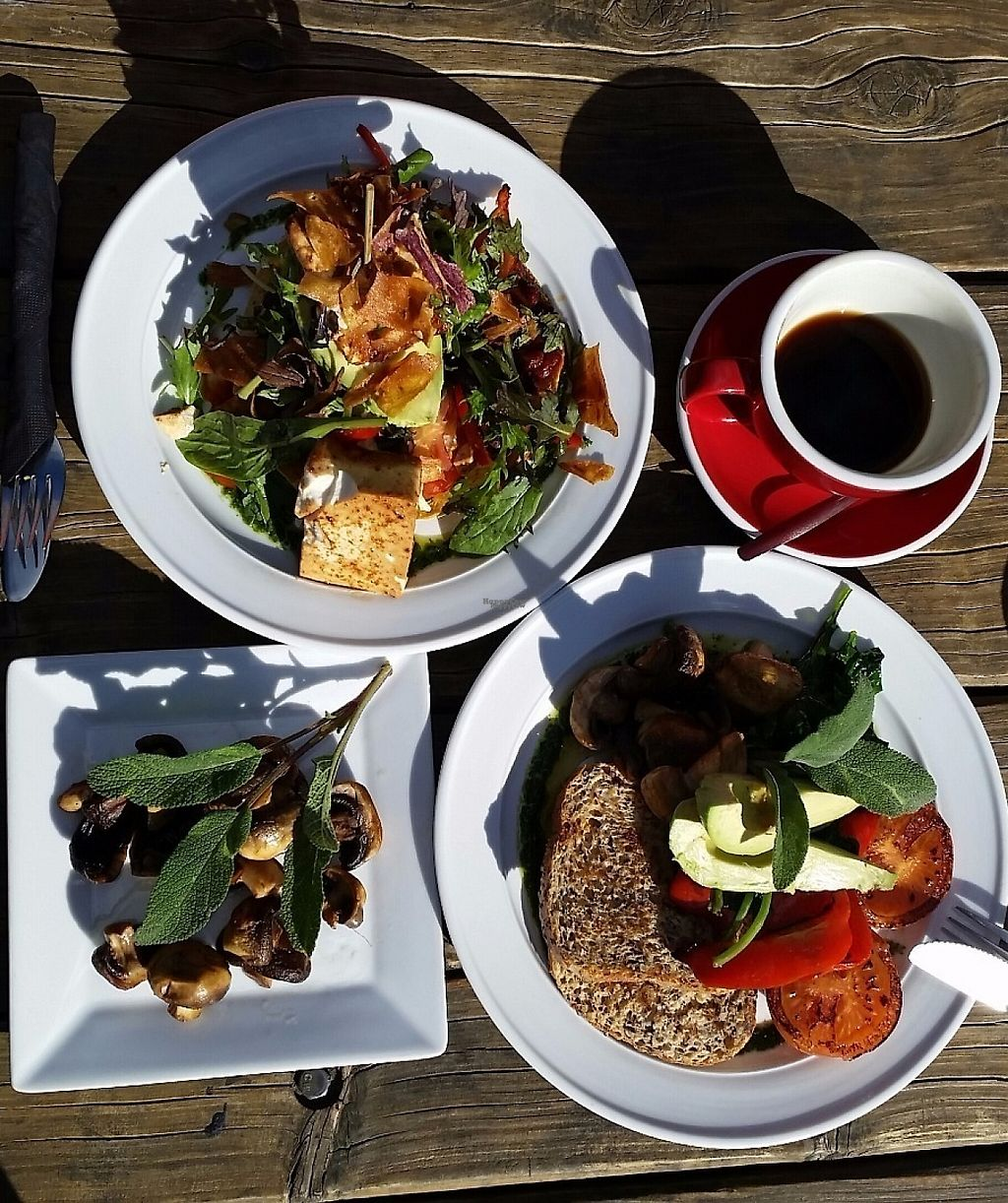 """Photo of Powerhouse Cafe  by <a href=""""/members/profile/AndyTheVWDude"""">AndyTheVWDude</a> <br/>Toasted Wholegrain Bread & Huveos Rancheros with a side of Mushrooms <br/> November 19, 2016  - <a href='/contact/abuse/image/82934/191968'>Report</a>"""