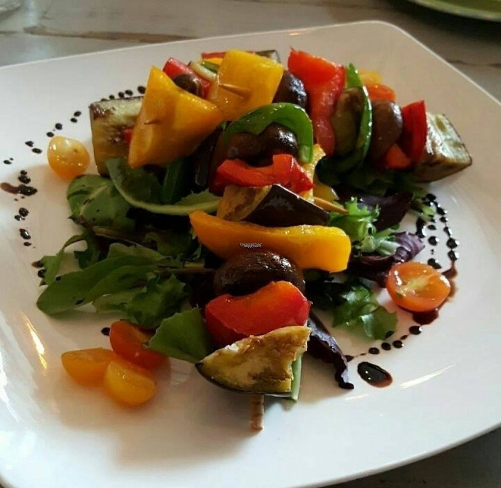"""Photo of Veggitalia  by <a href=""""/members/profile/KPS-Veg"""">KPS-Veg</a> <br/>Veggie kebabs appetizer <br/> April 30, 2017  - <a href='/contact/abuse/image/82945/254212'>Report</a>"""