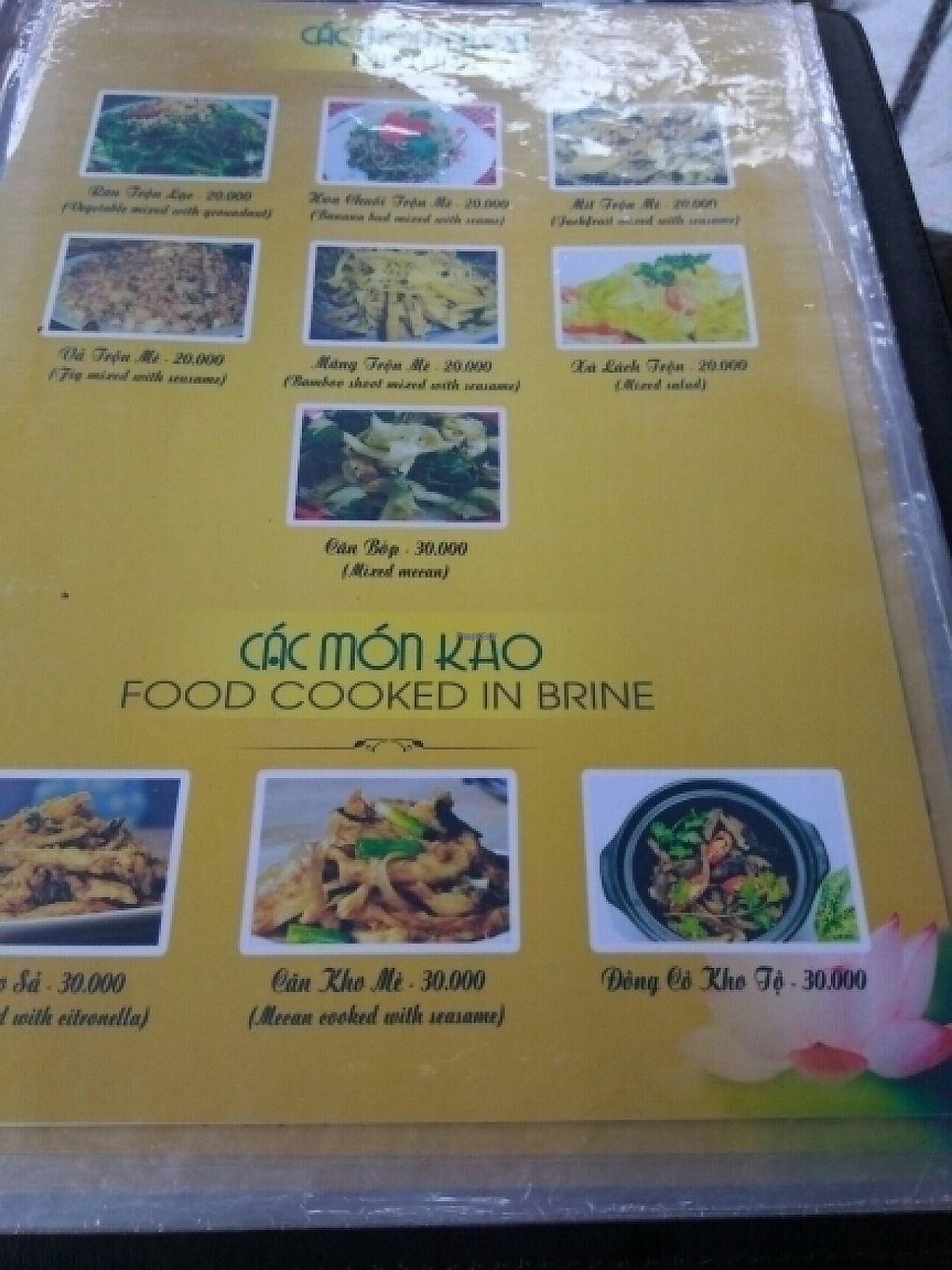 "Photo of Ngu Ha Garden Vegetarian Restaurant  by <a href=""/members/profile/Miggi"">Miggi</a> <br/>Menu 5 <br/> January 9, 2017  - <a href='/contact/abuse/image/82947/209833'>Report</a>"