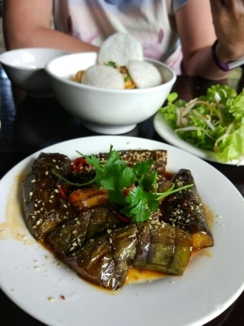 """Photo of Ngu Ha Garden Vegetarian Restaurant  by <a href=""""/members/profile/TillyMitchell"""">TillyMitchell</a> <br/>aubergine with garlic <br/> February 4, 2017  - <a href='/contact/abuse/image/82947/221960'>Report</a>"""