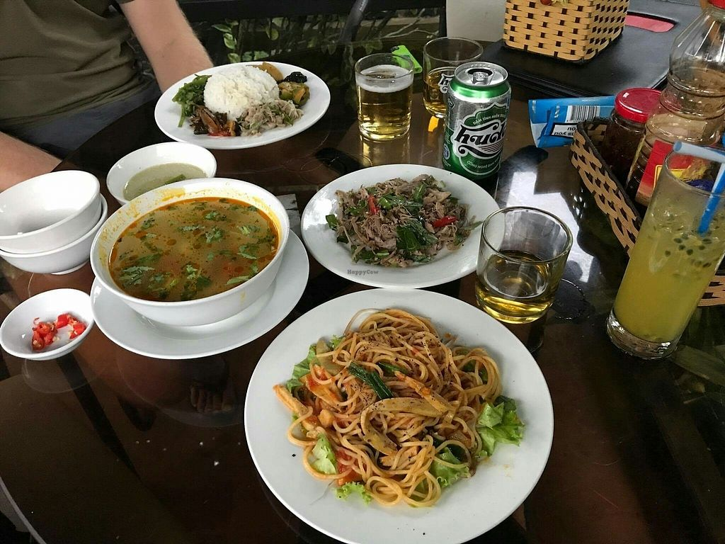 """Photo of Ngu Ha Garden Vegetarian Restaurant  by <a href=""""/members/profile/turnvegan"""">turnvegan</a> <br/>Lunch for two, 100k dong ($4) @July 2017 <br/> July 16, 2017  - <a href='/contact/abuse/image/82947/281044'>Report</a>"""