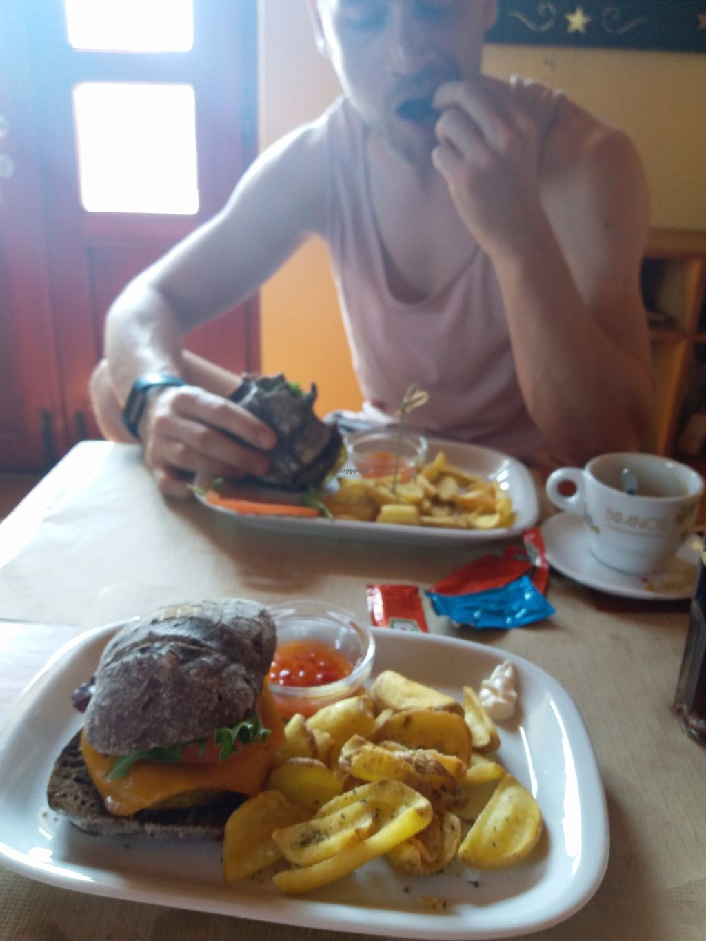 """Photo of Dromedário  by <a href=""""/members/profile/Libbytes"""">Libbytes</a> <br/>Front; falafel burger Back; Mr Bean burger <br/> September 12, 2017  - <a href='/contact/abuse/image/82949/303608'>Report</a>"""