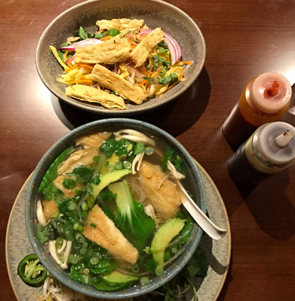 """Photo of House Special  by <a href=""""/members/profile/ByronSobe"""">ByronSobe</a> <br/>vegan pho and mango salad  <br/> November 23, 2016  - <a href='/contact/abuse/image/82963/193731'>Report</a>"""