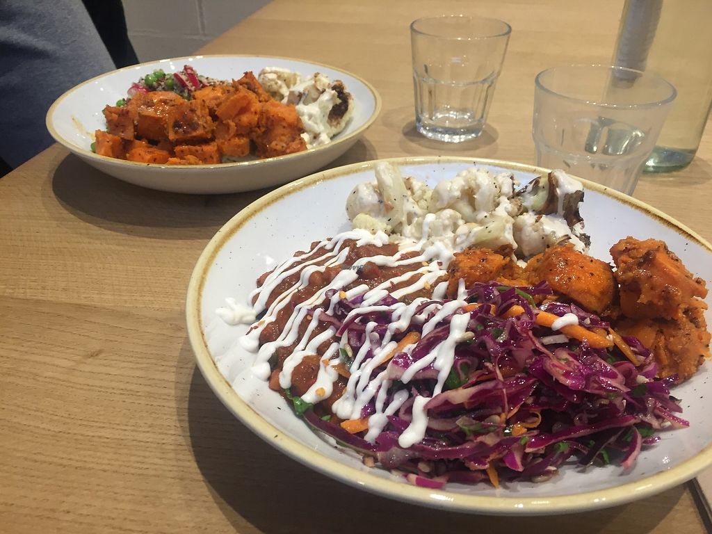 "Photo of Deliciously Ella - Weighhouse  by <a href=""/members/profile/alice28"">alice28</a> <br/>Cauliflower, sweet potato, coleslaw and chilli <br/> March 1, 2018  - <a href='/contact/abuse/image/82980/365326'>Report</a>"