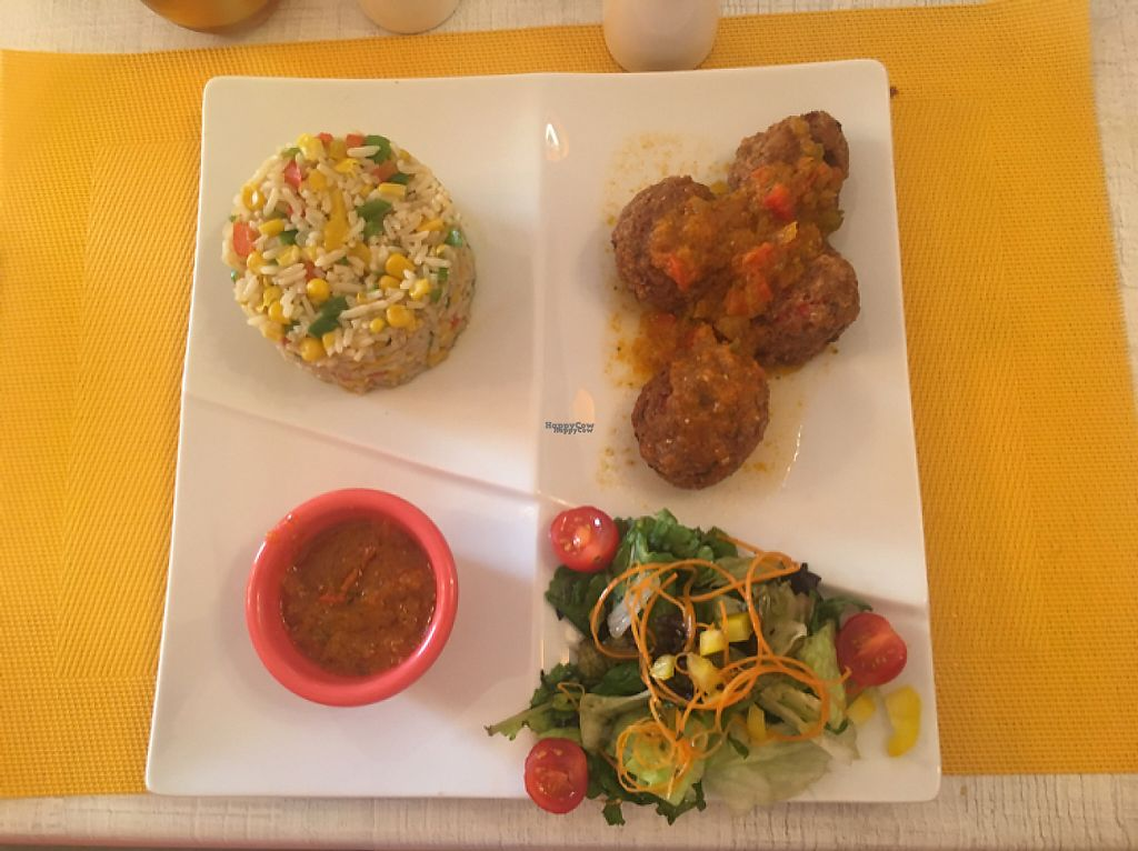 "Photo of GiGi's  by <a href=""/members/profile/veganmom"">veganmom</a> <br/>vegan meatballs and rice <br/> November 21, 2016  - <a href='/contact/abuse/image/82994/192787'>Report</a>"