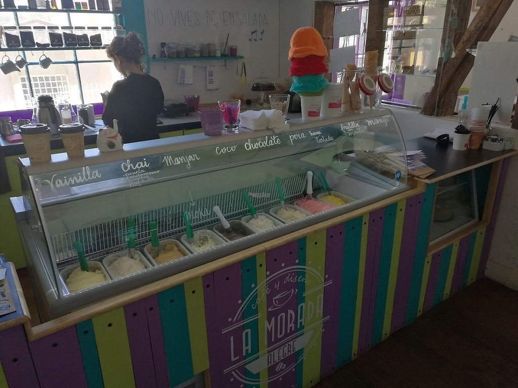 "Photo of La Morada Alegre  by <a href=""/members/profile/Uryca083"">Uryca083</a> <br/>It offers some vegan icecream <br/> December 11, 2016  - <a href='/contact/abuse/image/83006/199347'>Report</a>"