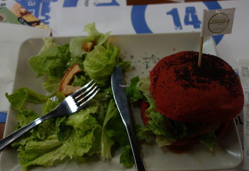"Photo of Vegana Burgers - Mercado de Campo de Ouriqu  by <a href=""/members/profile/mamba"">mamba</a> <br/>Quinoa&Lentil-Burger <br/> November 26, 2016  - <a href='/contact/abuse/image/83008/241353'>Report</a>"