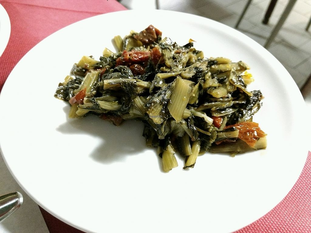 """Photo of La Tecia Vegana  by <a href=""""/members/profile/PDiddy"""">PDiddy</a> <br/>chicory side dish <br/> April 11, 2018  - <a href='/contact/abuse/image/83010/384180'>Report</a>"""