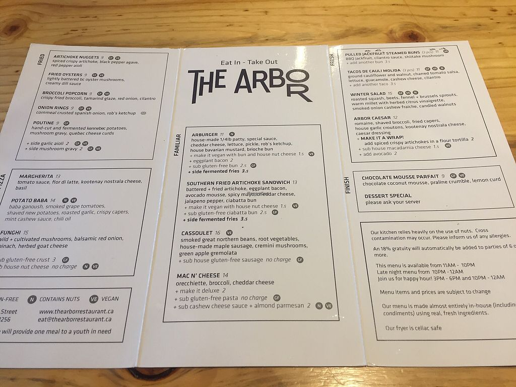 "Photo of The Arbor  by <a href=""/members/profile/theresabee"">theresabee</a> <br/>The Arbor Menu <br/> March 5, 2018  - <a href='/contact/abuse/image/83014/366920'>Report</a>"