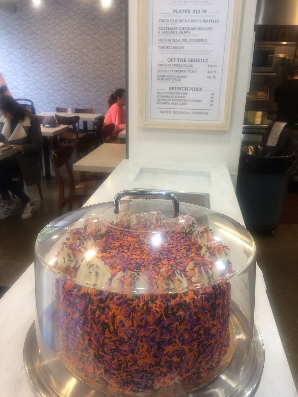 """Photo of Kal'ish  by <a href=""""/members/profile/Veganmeandlenab"""">Veganmeandlenab</a> <br/>A shot of the funfetti cake from Pie Pie My Darling. Super yummy! <br/> November 1, 2017  - <a href='/contact/abuse/image/83019/320822'>Report</a>"""