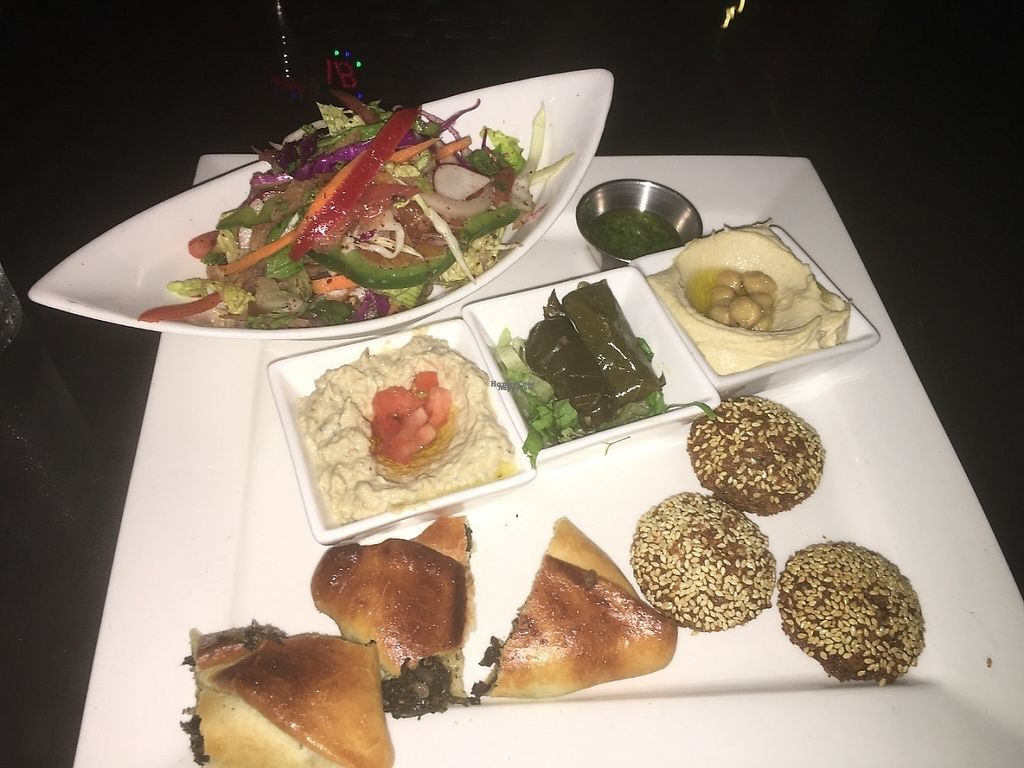 """Photo of Beirut SXM   by <a href=""""/members/profile/veganmom"""">veganmom</a> <br/>Vegan falafel plate <br/> November 21, 2016  - <a href='/contact/abuse/image/83023/192851'>Report</a>"""