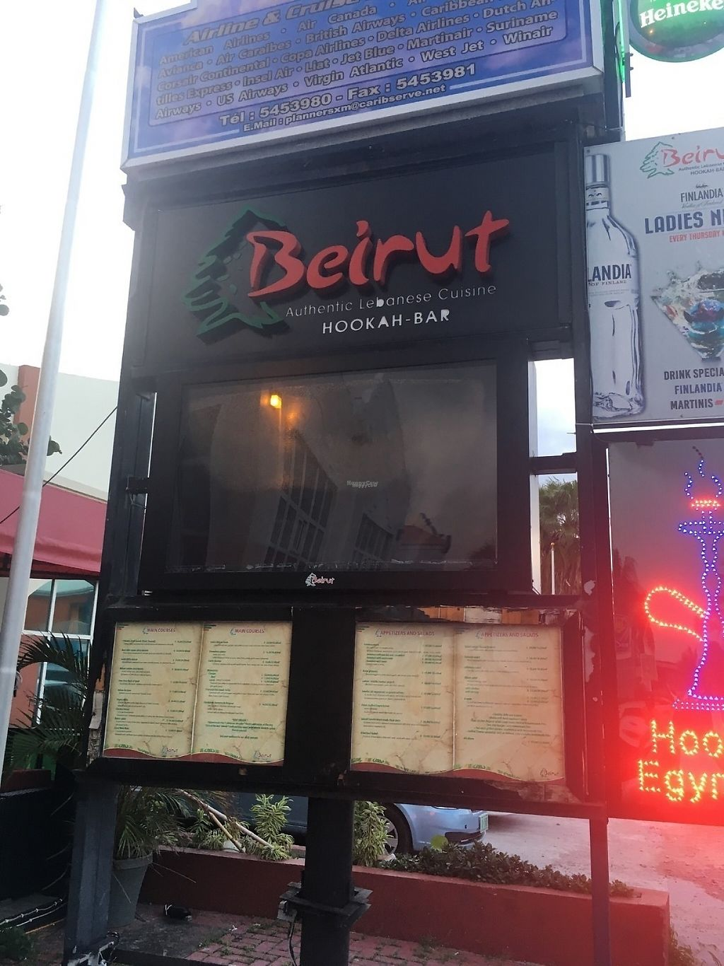 """Photo of Beirut SXM   by <a href=""""/members/profile/veganmom"""">veganmom</a> <br/>From the outside <br/> November 21, 2016  - <a href='/contact/abuse/image/83023/192853'>Report</a>"""
