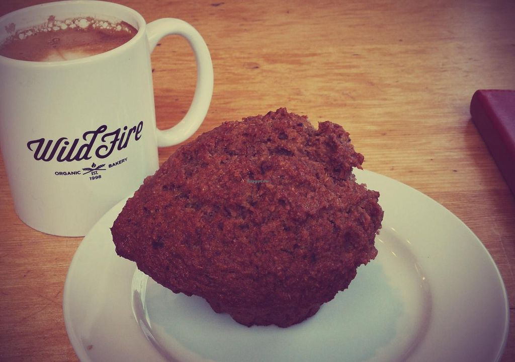 """Photo of Wild Fire Bread and Pastry  by <a href=""""/members/profile/elizabet"""">elizabet</a> <br/>Banana + hazelnut muffin, latte <br/> July 22, 2015  - <a href='/contact/abuse/image/8304/110519'>Report</a>"""